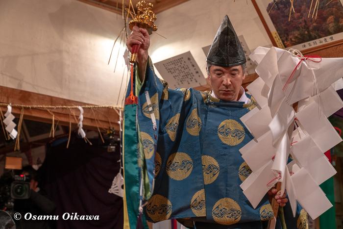 成30年 秋田県 横手市 保呂羽山波宇志別神社里宮 拝殿 霜月神楽 奉幣式舞