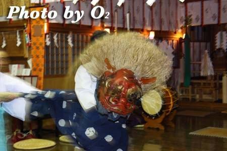平成22年 北斗市 上磯八幡宮 春の祈年祭 松前神楽 十二の手獅子舞五方