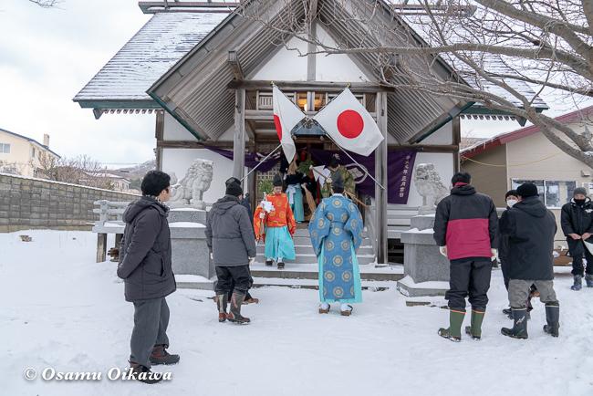 平成31年 松前町 清部八幡神社 新春門祓い01