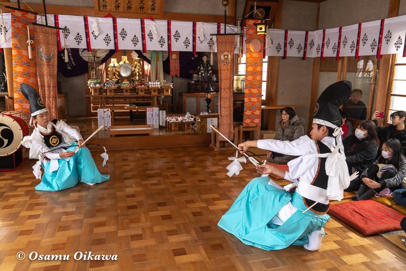 平成31年 松前町 清部八幡神社 松前神楽披露 神遊舞