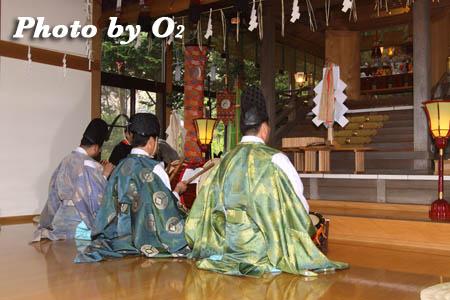 平成21年 函館市 高穂神社例祭 松前神楽 神楽初
