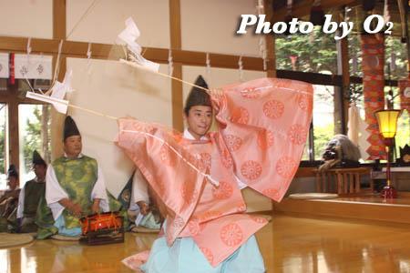 平成21年 函館市 高穂神社例祭 松前神楽 福田舞