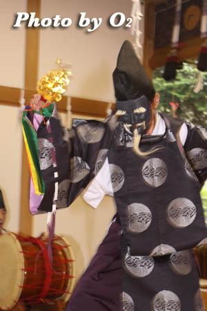 平成21年 函館市 高穂神社例祭 松前神楽 三番叟
