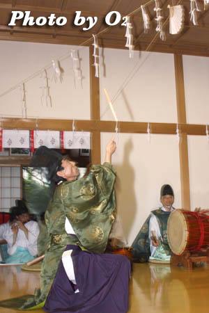 平成21年 函館市 高穂神社例祭 松前神楽 注連祓舞