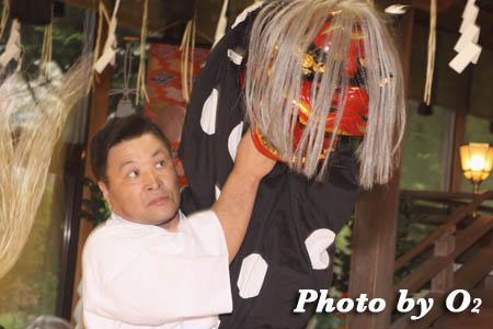平成21年 函館市 高穂神社例祭 松前神楽 十二の手獅子舞五方