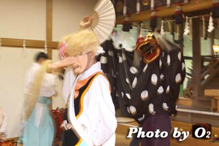 平成21年 函館市 高穂神社例祭 松前神楽 十二の手獅子舞 面足獅子